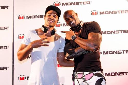 With Tyson Beckford