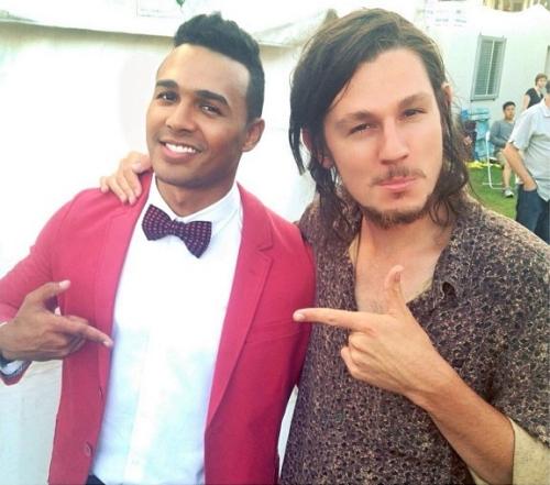 It's X-Factor Australia meets X-Factor NZ!  Good meeting Benny Tipene, talented & a cool cat.
