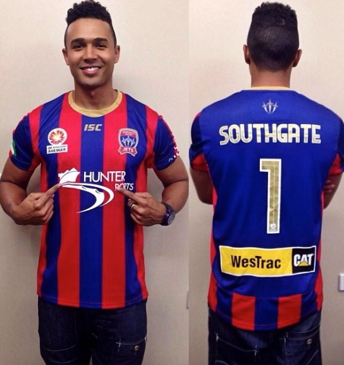 Thanks to the Newcastle Jets for my customized jersey!